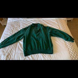 Bobby Jones green golf windbreaker L